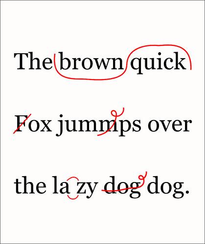 proofreader marks; photo credit volkspider/PhotoPin
