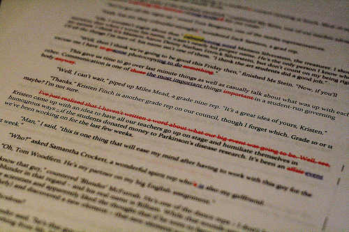 proofreading; photo credit Gamma-Ray Productions/PhotoPin
