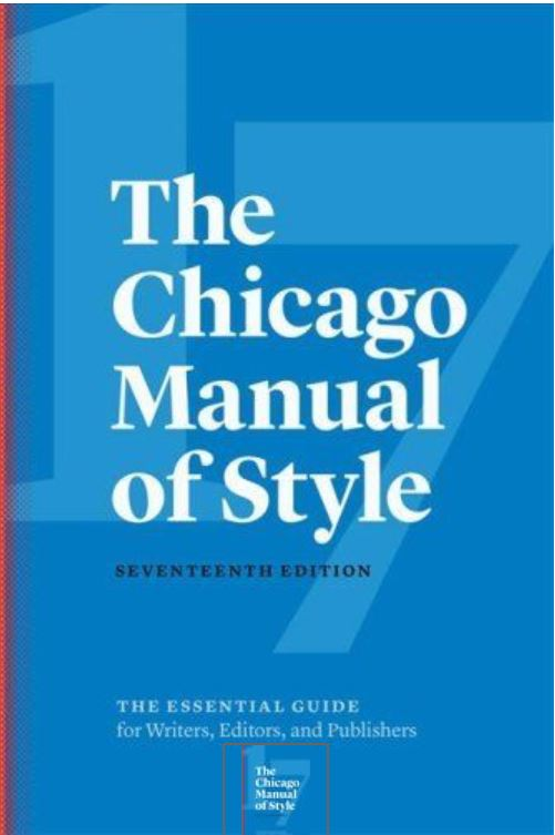 Chicago Manual of Style, 17th ed