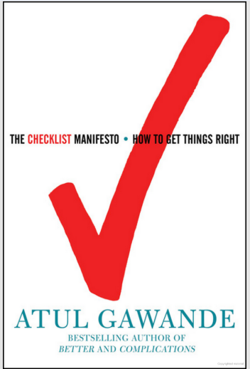 Gawande's Checklist Manifesto; basis for proofreading checklist