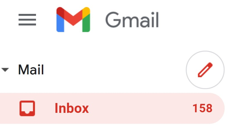email inbox message number